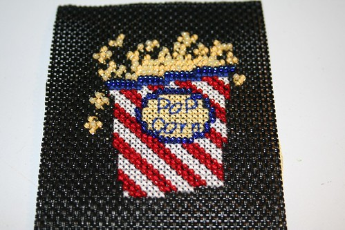 Popcorn cross stitch