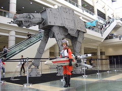 X-Wing Girl with AT-AT (Vicious Eagle) Tags: girl rebel star fan starwars costume orlando comic contest young best celebration v xwing wars r2 con pilot sdcc xwinggirl swcv