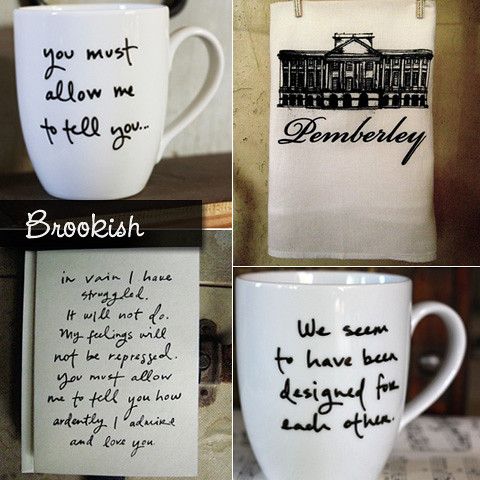 Pride & Prejudice Themed Etsy Shop Brookish