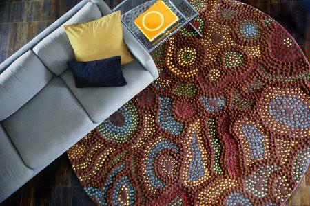 malene b-papunya handtufted new zealand wool photo by lionel aurelien photography