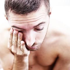 (Damien Cox) Tags: uk gay portrait selfportrait man male me face self ego myself beard bed bedroom hand masculine chest moi homo torso homosexual queer forearm scruff stubble closedeyes sigma30mmf14exdchsm i nikond40 damiencox snaptweet dcoxphotographycom