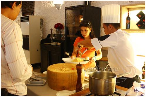 L'Incontro - Pasta cooked on Cheeseblock