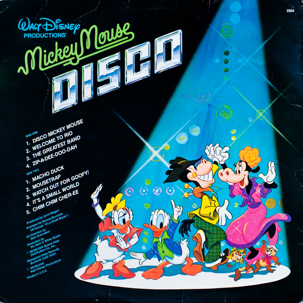 mickey mouse disco (rear cover)