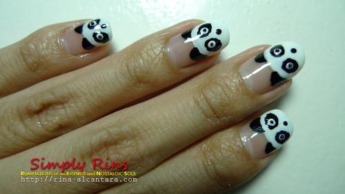 Nail Art Panda 05