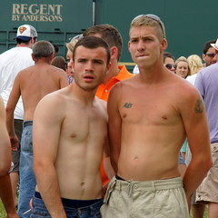 A trip back to Epsom Downs (CharlesFred) Tags: shirtless english lads racing surrey races derby epsom chav horserace chavs ladz workforce epsomdowns englishlads derby2010