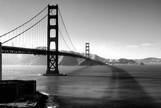 Big bridge, cool shadow