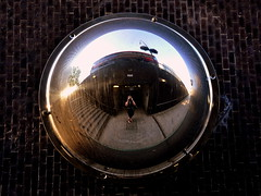 CCTV London (Stacey Price (Roxy_77)) Tags: camera selfportrait bus london stairs underpass subway unitedkingdom tube cctv fisheye doubledecker concretejungle edgewareroad d90 roxy77