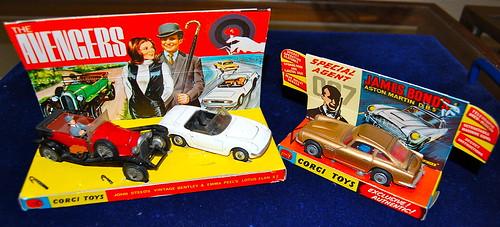 Corgi James Bond and Avengers cars