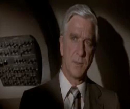 Screenshot from Airplane!, which transformed him from a dramatic actor into a comedic actor., From ImagesAttr