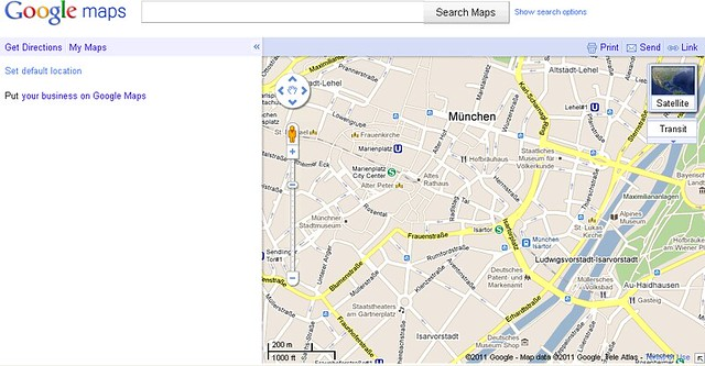 Blank Google My Maps