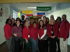 Hodge Road Elementary - Knightdale, NC (NCAE Flickr) Tags: red public ed support wear