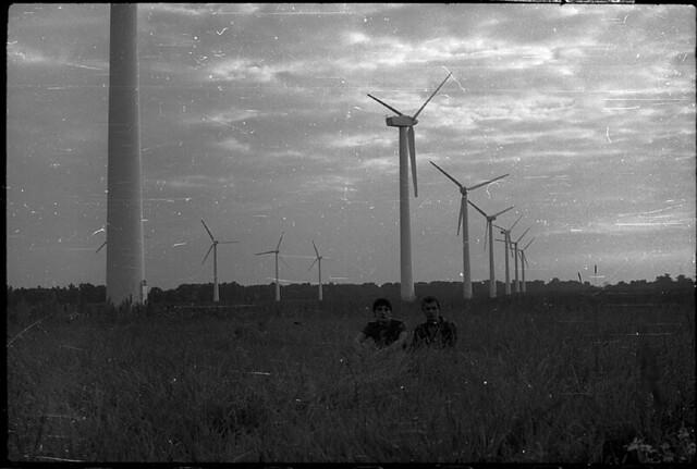 Die Windräder am Ufer der Ostsee