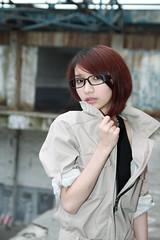 [フリー画像] 人物, 女性, アジア女性, 眼鏡・メガネ, 201102181500