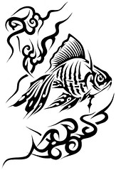 AMOR (Black Crown . tribal) Tags: blackandwhite fish art dark skull design drawing air tribal tatoo