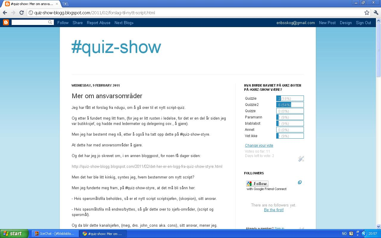 mer fra quiz show bloggen
