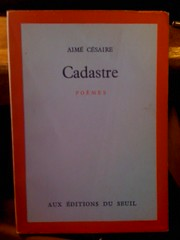 Image for Cadastre: Poemes by Cesaire, Aime