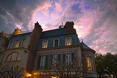 After the rain (Todd Hurley Photography) Tags: sunset orlando epcot florida handheld hdr themepark toddh worldshowcase baylake skydrama nikcolorefexpro francepavillion thhphotography photoshopcs5