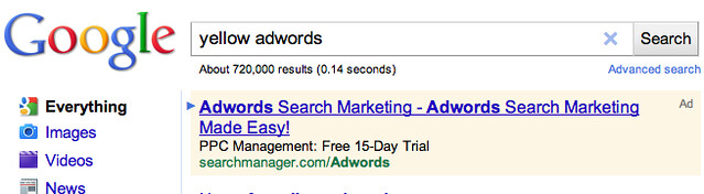 Yellow AdWords