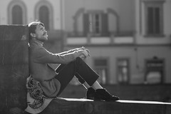Daydreamer (guido.masi) Tags: street blackandwhite bw white black canon eos florence streetphotography masi bn firenze bianco nero guido biancoenero daydreamer 550d guidomasi