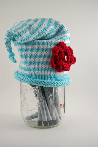 Blue and White Stripes Hat