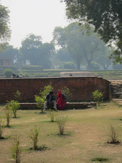 Couple at Sarnath ruins
