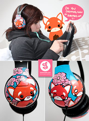 redpanda (bobsmade) Tags: handmade painted headphones customized custom chucks acrylicpaint ipad bobsmade molotowone4all