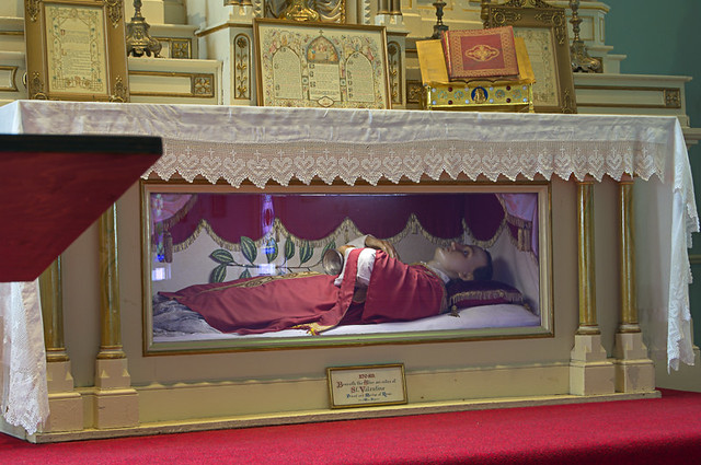 Old Saint Ferdinand Shrine, in Florissant, Missouri, USA - relics of Saint Valentine