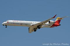 Iberia CRJ ec-jzs (merlyn.pauley) Tags: madrid madridbarajasairport airport spain iberia crj ecjzs