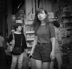 Isn't she lovely (Bill Morgan) Tags: fujifilm fuji x100f bw jpeg acros street kichijoji tokyo girl