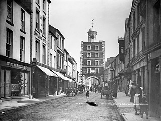 South Main Street and Clock Gate from North Youghal, Queenstown, Co. Cork