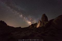 Alabama Hills Milky Way (Mike Ver Sprill - Milky Way Mike) Tags: alabamahills milkywaygalaxy universe stars astrophotography astronomy landscape nature california cali nightsky nightscape nightscaper dark beautiful mike ver sprill michael versprill travel tutorials led light starry stacker sls nikon d800 stacked