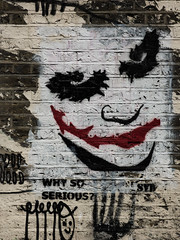 Why So Serious Syd (Steve Taylor (Photography)) Tags: clockworkorange clown whysoserious syd face art graffiti stencil streetart building wall black brown red white smile crazy mad brick man uk gb england greatbritain unitedkingdom london heathledger
