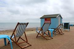 British Summer Time (Crisp-13) Tags: isle wight shanklin seaside beach deck chair table hut sea coast