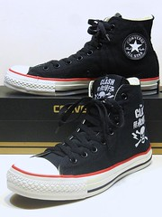 Clash (Kanji Skull) -  Black, White & Red Hi 114001 (hadley78) Tags: converse cons chucks chuck taylor taylors tops top thatconverseguy guinness world record ripleys joshua mueller clash kanji skull