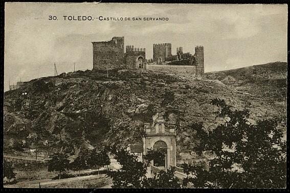 Castillo de San Servando a inicios del siglo XX. Foto Grafos