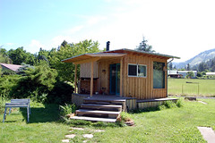 our tiny house @ morning (Precious Roy) Tags: roof diy construction idaho covered porch tinyhouse