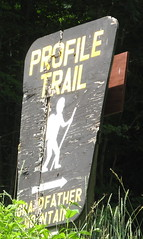 Profile Trail sign from Highway 101
