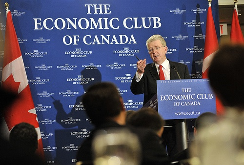 Michael Russell addressing the Economic Club of Canada