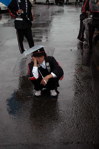 Practice in the rain