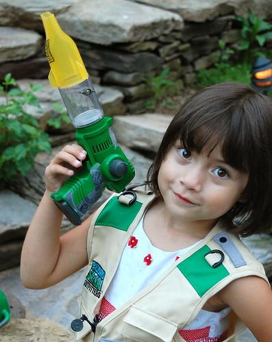 Backyard Safari Outfitters cargo vest & bug vacuum!