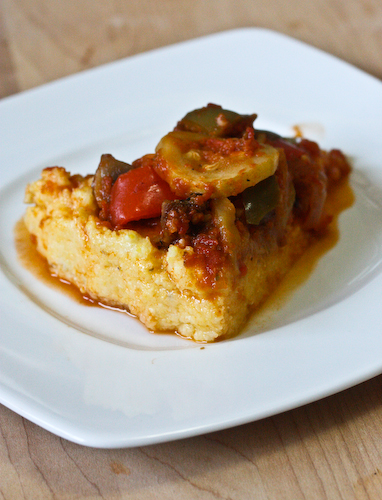 Roast Vegetable Polenta Pie