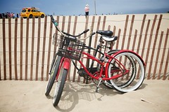 Pier Parking Lot And Bike Path
