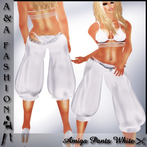 A&A Fashion Amiga Pants White