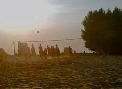 Volleyball am Bilkerstrand