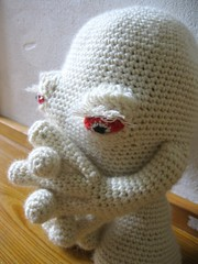 crochet white ghost (octopus_mountain) Tags: man japan eyes geek ghost alien crochet craft plush eyeball  sprits