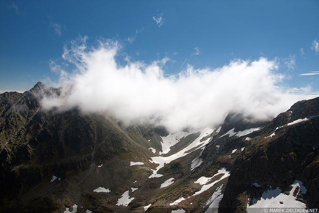 Orla Perć w chmurzyskach