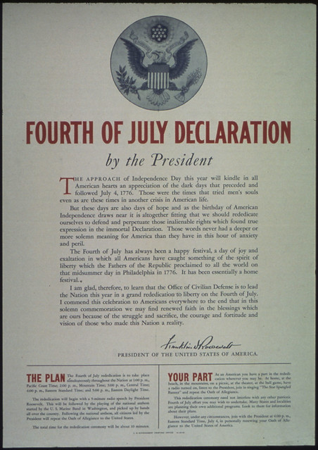 quotFourth of July Declaration by the Presidentquot by The US National Archives