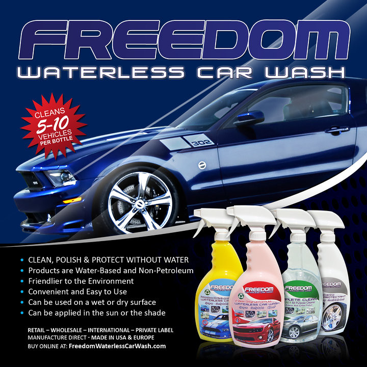 freedom waterless products