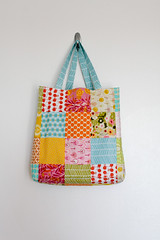 Beach Bag (Jeni Baker) Tags: june yard bag one apartment handmade sewing quilting finished bags projects grocery patchwork tote crafting wonders 2010