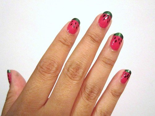 day 180: watermelon nails